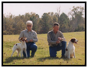 Louise & Danny Brown, Big Oaks Brittanys Mississippi Brittany Breeders